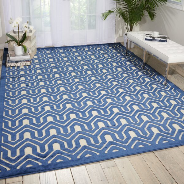 Beaconsfield Ivory/Blue Area Rug by Mercer41