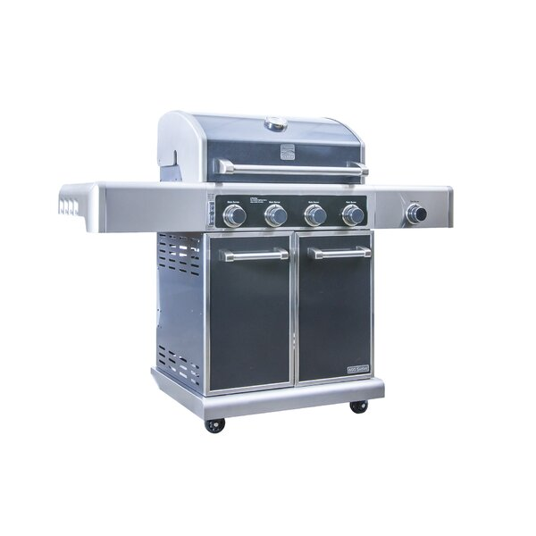 Kenmore Elite 4-Burner Convertible Gas Grill with Side Burner by Kenmore