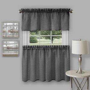 Modern Kitchen Valance Curtains kitchen curtains you'll love | wayfair