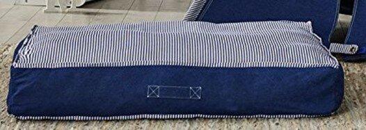 Josie Denim Cotton Floor Pillow by Longshore Tides