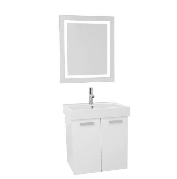 Cubical 23 Single Bathroom Vanity Set with Mirror by Nameeks Vanities