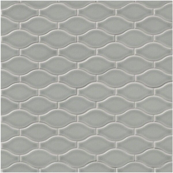 Ogee Ceramic Mosaic Tile in Morning Fog by MSI