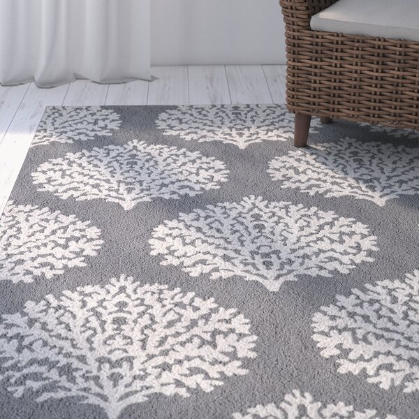 Cline Gray Area Rug by Highland Dunes