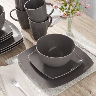 Lorren Home Trends Domus Porcelain 57 Piece Dinnerware Set ...