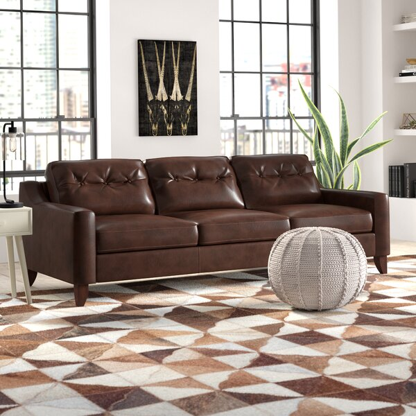 Modern Beautiful Levell Leather Sofa by Trent Austin Design by Trent Austin Design