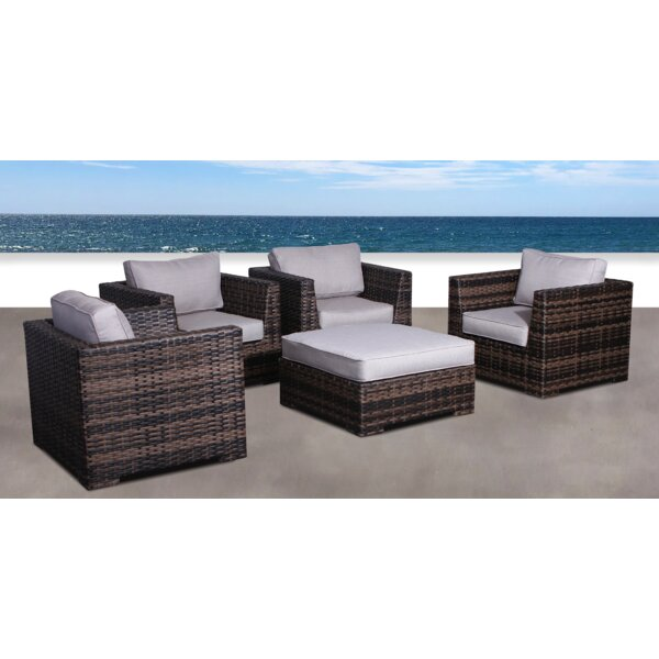 Pierson Resort 5 Piece Patio Chair Set with Cushions by Brayden Studio