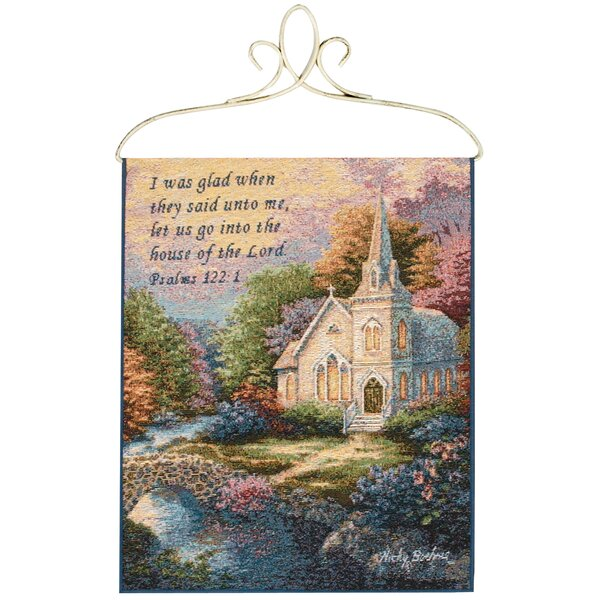 Church in the Country Tapestry and Wall Hanging by Manual Woodworkers & Weavers