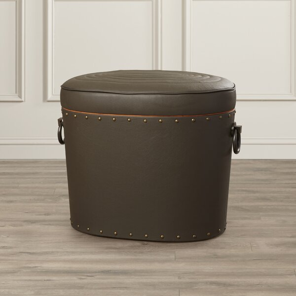 Leather Storage Ottoman by Darby Home Co