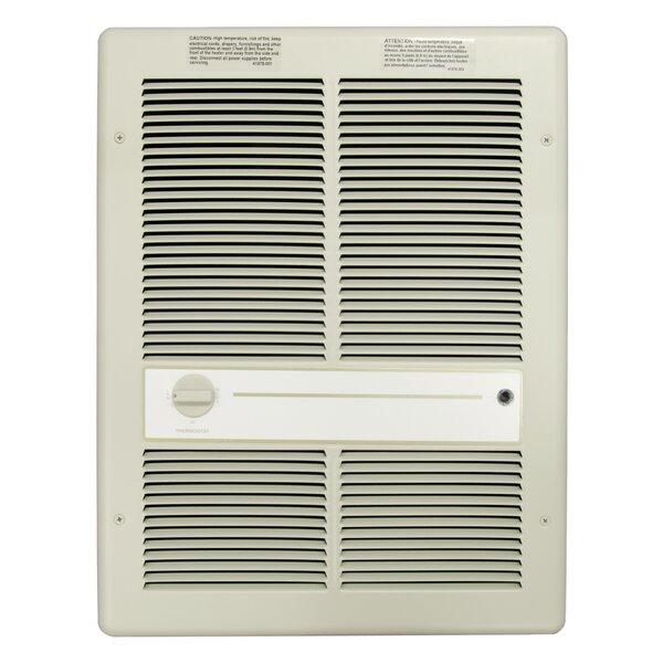 1,500 Watt Wall Insert Electric Fan Heater with Summer Fan Forced Switch by TPI