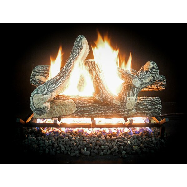 Complete Match Light Great Oak Gas Natural Log Kit by Dreffco