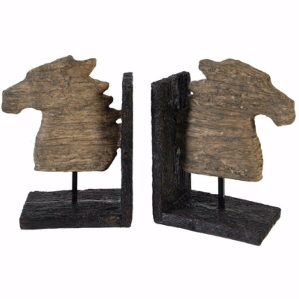 Horse Bookends (Set of 2) by Union Rustic