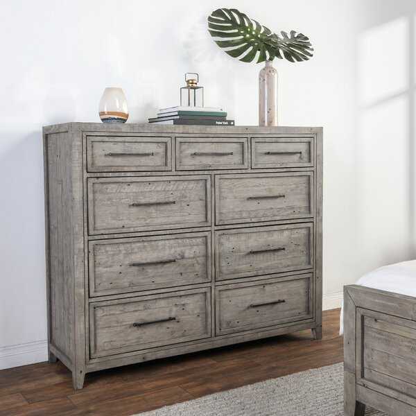 Kimberley Reclaimed Pine 9 Drawer Double Dresser by Millwood Pines