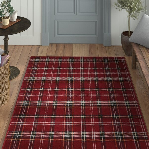 Longmont Red Indoor Area Rug by Laurel Foundry Modern Farmhouse