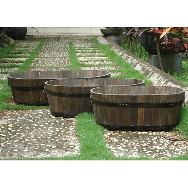 Dousman Wood Barrel Pot Planter by Gracie Oaks