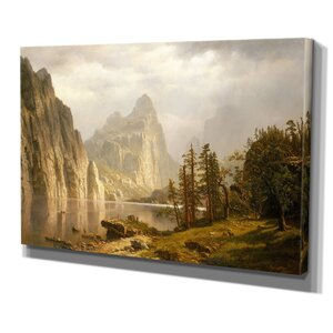 'Merced River' by Albert Bierstadt Painting Print on Wrapped Canvas by Wexford Home