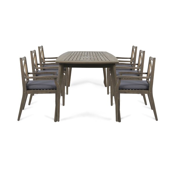 Salguero 7 Piece Dining Set with Cushions by Gracie Oaks