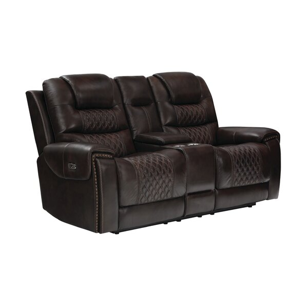 Nezperce Leather Reclining Loveseat By Winston Porter