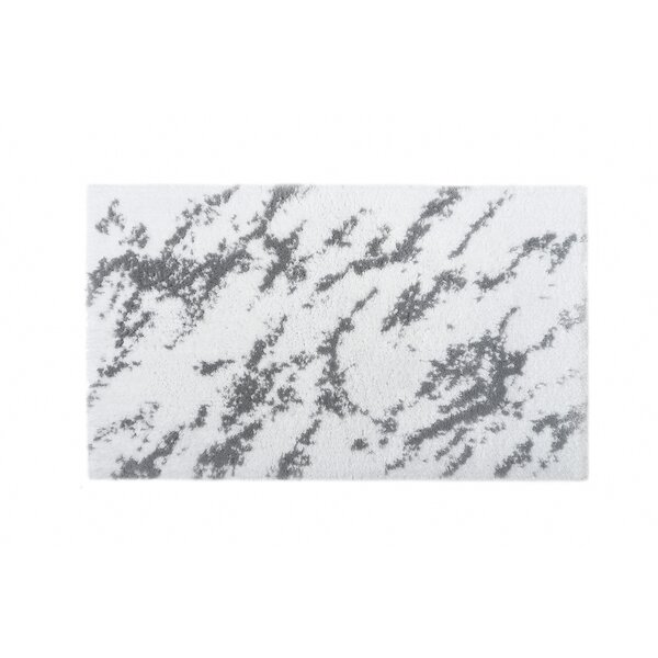 Bearcreek Rectangle 100% Cotton Non-Slip Abstract Bath Rug