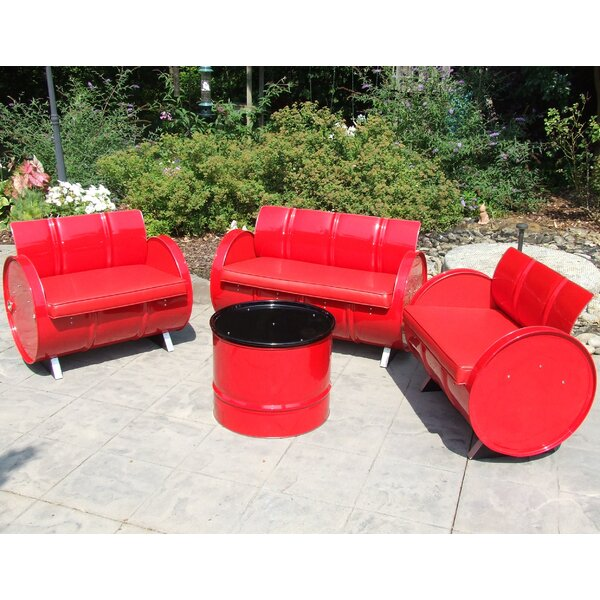 4 Piece Sofa Set With Cushions By Drum Works Furniture