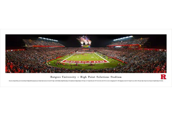 NCAA Rutgers University by James Blakeway Photographic Print by Blakeway Worldwide Panoramas, Inc