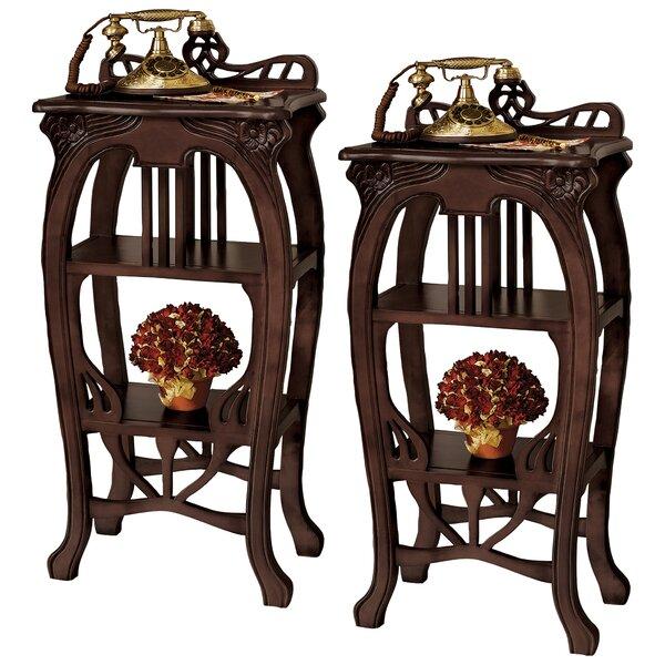Art Nouveau Harp End Table (Set of 2) by Design Toscano