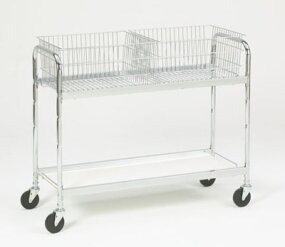 Long Office File Cart by Charnstrom