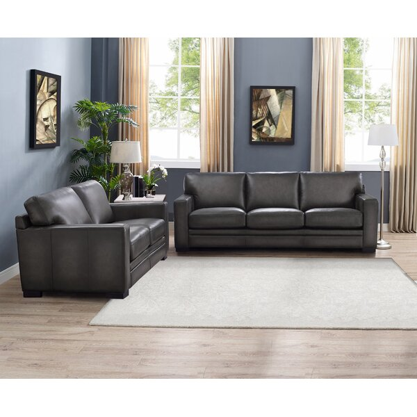 Drakeford 2 Piece Leather Living Room Set by Brayden Studio