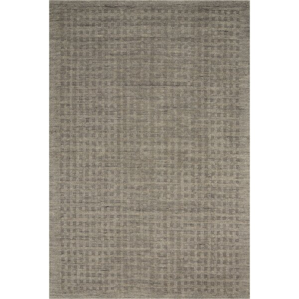 Dove Hand-Woven Wool Charcoal Gray Area Rug by Highland Dunes