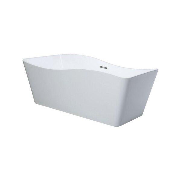 Ondulato 67 x 31 Freestanding Soaking Bathtub by Kube Bath