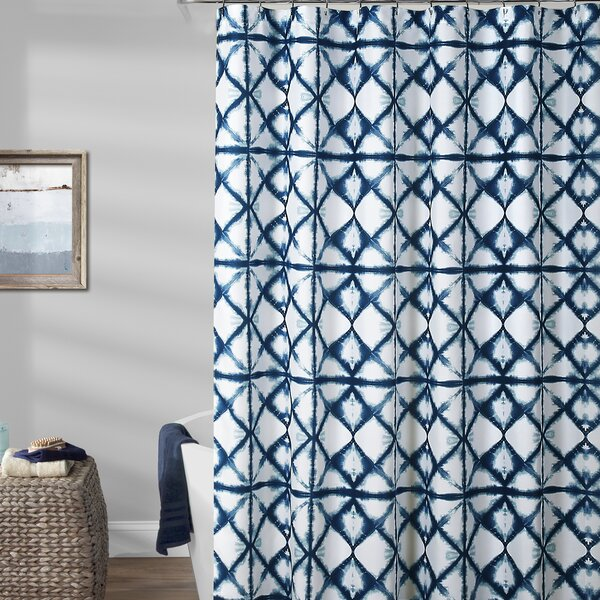 Rizzi Shibori Shower Curtain by World Menagerie