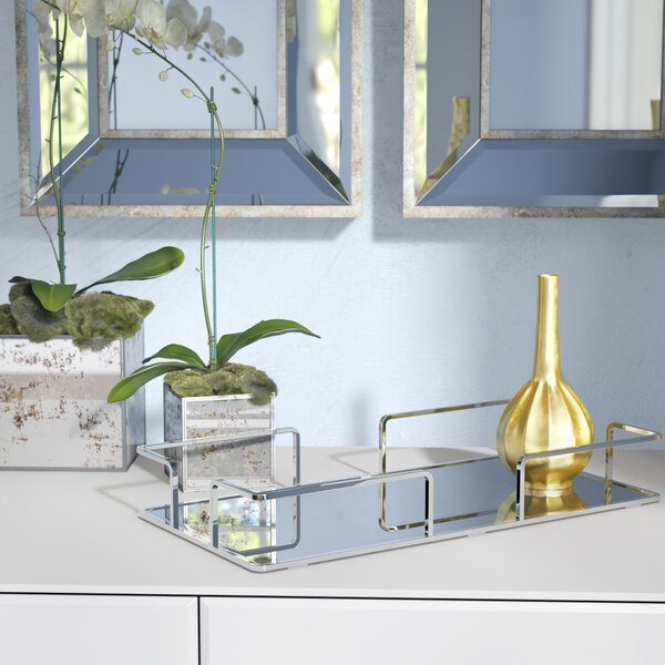Cullompton Modern Rectangular Design Mirror Vanity Tray by Mercer41