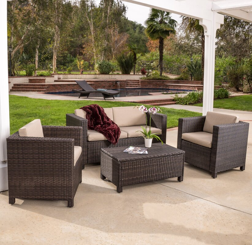 Kappa 4 Piece Seating Group With Cushion