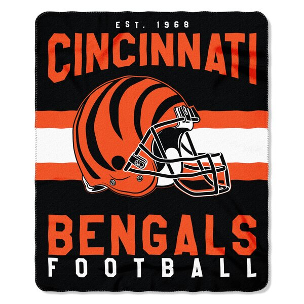 NFL Cincinnati Bengals Printed Fleece Throw by Northwest