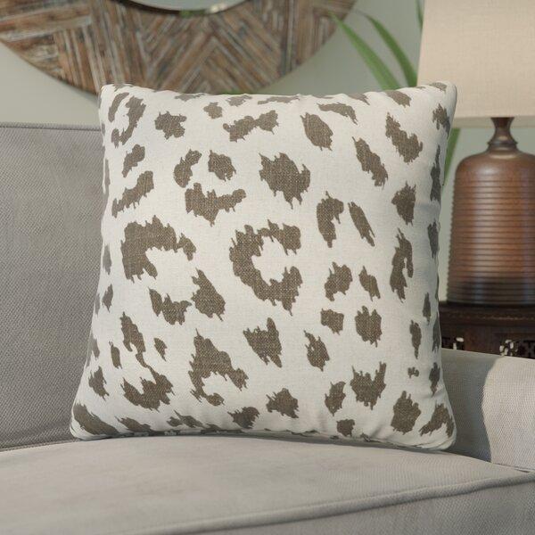 Tyre Cheetah Linen Throw Pillow by Bloomsbury Market