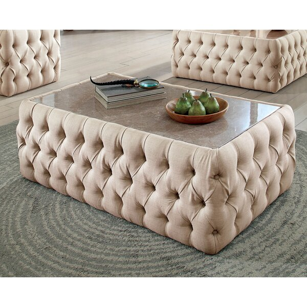 Regan Upholstered Coffee Table by Everly Quinn