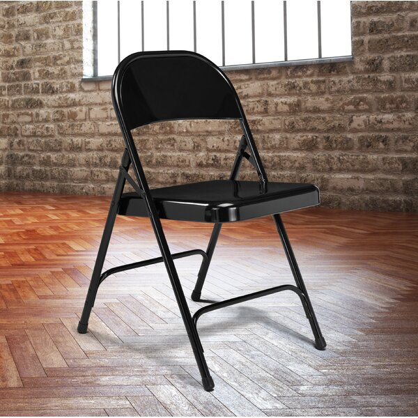 50 Series Metal Folding Chair (Set of 4) by National Public Seating