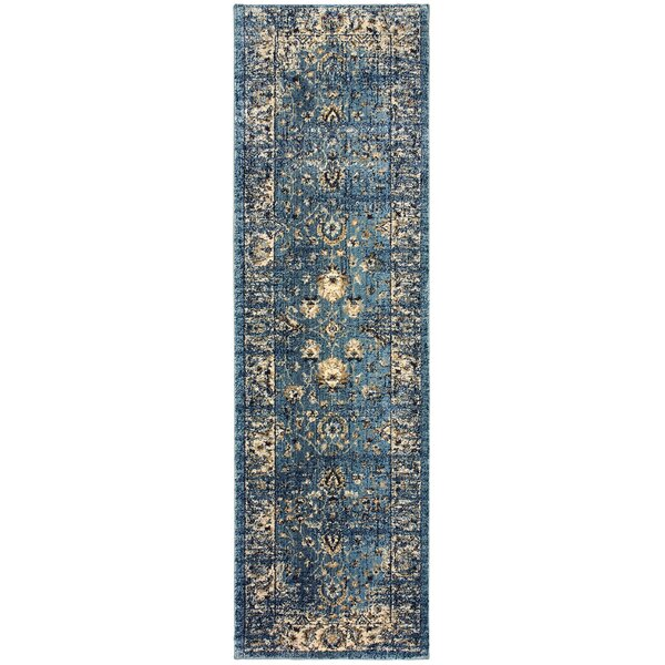 Quenby Blue/Ivory Area Rug by Bloomsbury Market