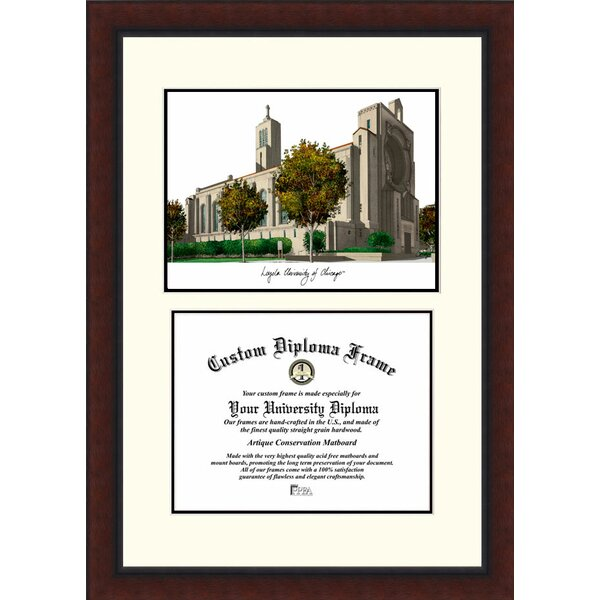 NCAA Loyola University Chicago Legacy Scholar Diploma Picture Frame by Campus Images