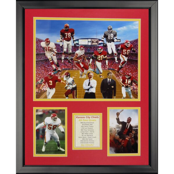 NFL Kansas City Chiefs - Chief Greats Framed Memorabili by Legends Never Die