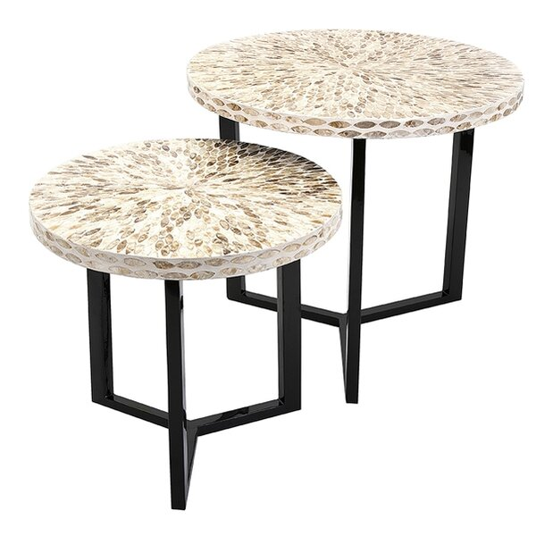Bonita 2 Piece Shell End Table Set (Set of 2) by Bay Isle Home