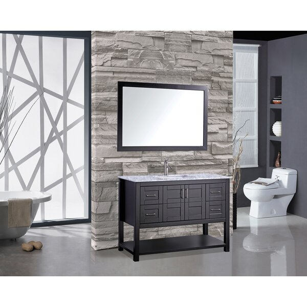 Ringler 48 Single Bathroom Vanity Set with Mirror by Mercer41
