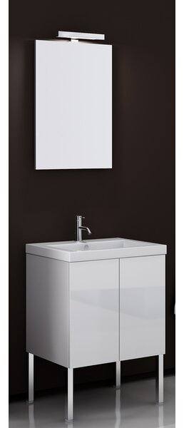 Space 24 Single Bathroom Vanity Set with Mirror by Iotti by Nameeks