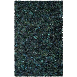 Messiah Green Shag Area Rug