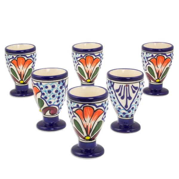 2 oz. Ceramic Snifter Glass (Set of 6) by Novica