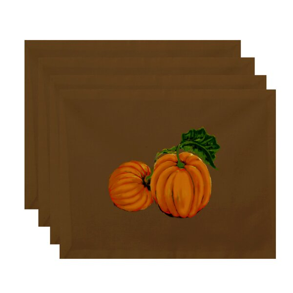 Poitras Pumpkin Patch Holiday Print Placemat by August Grove
