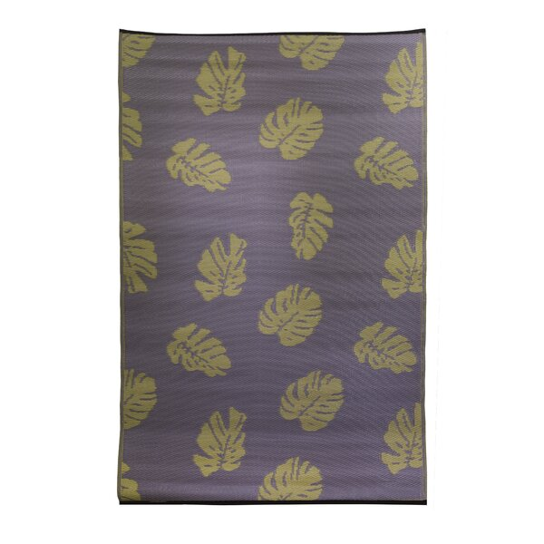 Premiere Home Hand-Woven Purple/Tan Indoor/Outdoor Area Rug by Fox Hill Trading