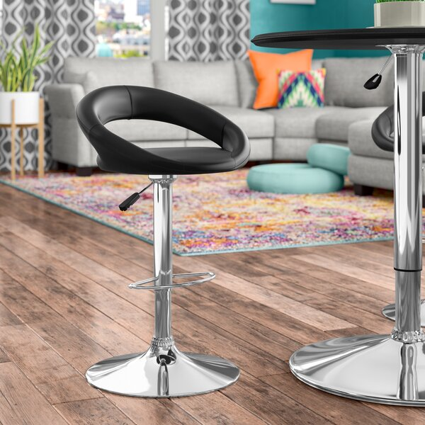 Jerald Height Swivel Bar Stool (Set of 2) by Wade Logan
