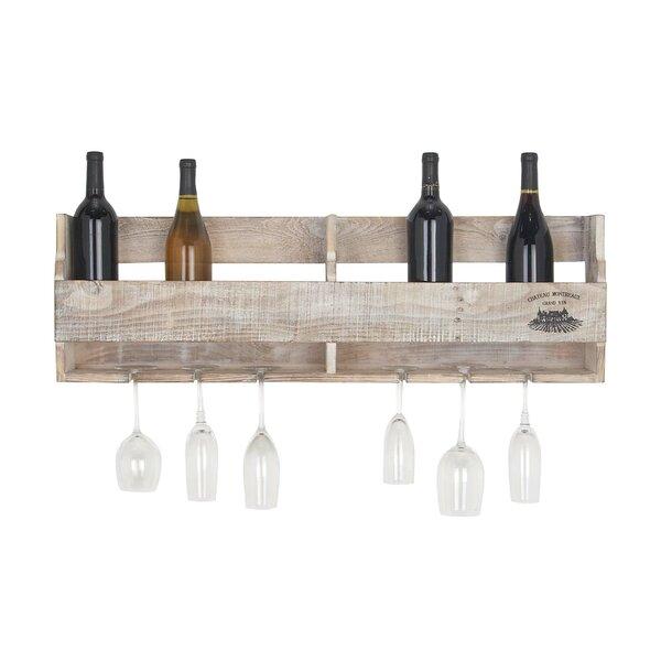Sayre Traditional Pine Multi-Bottle Wall Mounted Wine Bottle Rack by Gracie Oaks