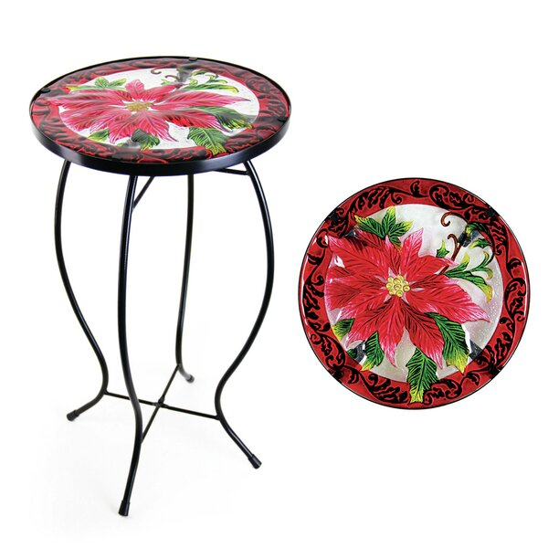 Poinsettia Bistro Table by Exhart