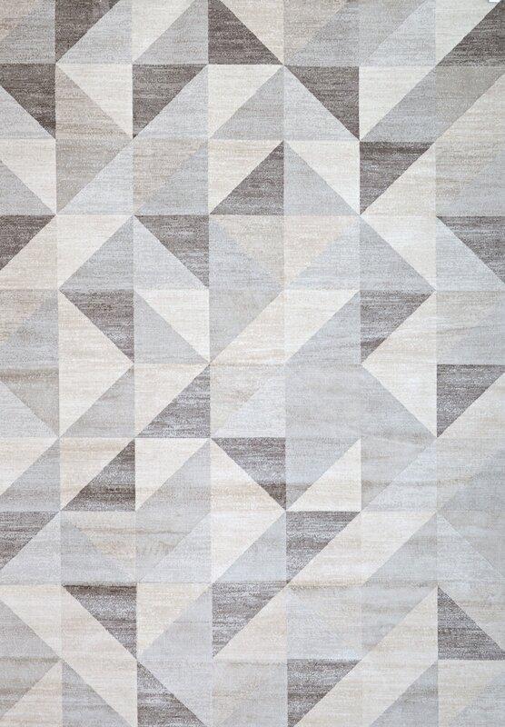 Sonoma Grey White Area Rug